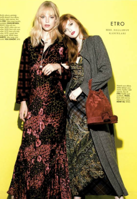 Isabeau, Sierrah and Jess on ELLE Sep'16